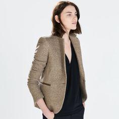 ZARA Blazer with Elbow Patches NWT. Never worn. Has some stretch to it. Zara Jackets & Coats Blazers