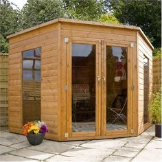 8 x 8 Waltons Wooden Corner Summer House