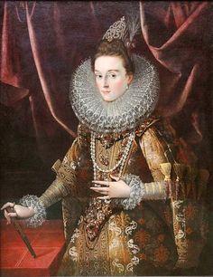 Juan Pantoja de La Cruz — Infanta Isabella Clara Eugenia of Spain, 1599 : Old Pinakothek, Munich. Tudor Fashion, Renaissance Fashion, Renaissance Clothing, Renaissance Portraits, Kaiser Maximilian, Spanish Netherlands, Diego Velazquez, European Dress, Spain