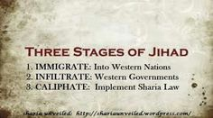 Three stages of Jihad...look familiar? This should be incorporated into EVERY history curriculum in this nation. Our children need to be taught to be aware, since many of their parents are turning a blind eye due to this government's handouts. Our liberty is at stake here.