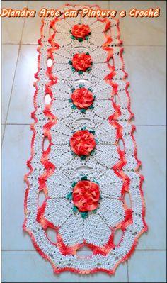 Diandra Arte em Crochê: TRILHOS DE MESA