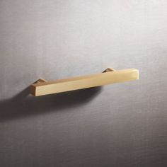 """Shop 4"""" Brushed Brass Square Handle. Minimal yet sculptural, the humble square adds a sophisticated graphic element to doors and drawers. Handmade of solid brushed brass, clean shape ups the design factor of existing cabinets."""