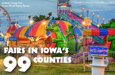 With so many counties, it can be hard to know where to start. Each fair has its own character and charm. But they all offer a welcoming atmosphere and home-grown, Iowa hospitality!