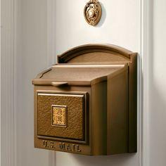 Envelope WallMount Mailbox Antique Silver Wall mount mailbox