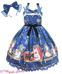 Princess Cat SpecialジャンパースカートSet All Fashion, Cute Fashion, Asian Fashion, Fashion Beauty, Model Dress Batik, Batik Dress, Rococo Fashion, Lolita Fashion, Harajuku Fashion