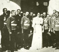 Empress Alexandra and officers
