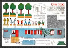 1950s Israeli House Diorama Free Papercraft Download