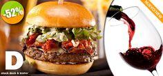 D'Stock Restaurant en Nuevo Vallarta - $99 en lugar de $205 por 1 Exquisita D'Hamburguesa con Papas + 1 Copa de Vino de la Casa ó 1 Limonada Click http://cupocity.com
