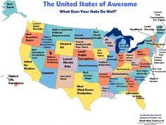 The United States of Awesome -   What does your state do well? I have to say, as someone who has lived in Ohio all my life, I find it hard to believe that more than a handful of people here actually use a library. Or even know what a library is...Maybe they use it as a place to hang out or sell drugs, but I can't imagine them actually reading.