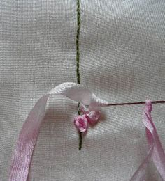 Silk Ribbon Embroidery: Foxgloves in Silk Ribbon