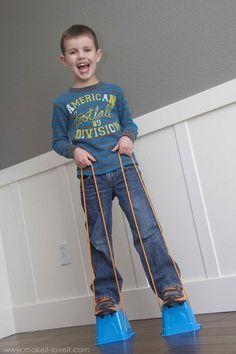 DIY Walking Stilts | Rainy Day Crafts For Kids