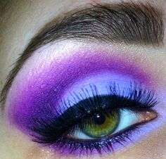 color of the day: #purple #makeup #lashes