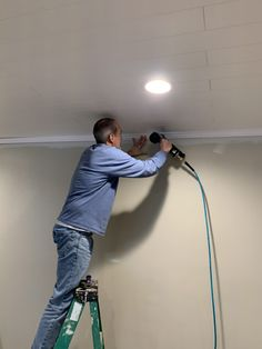 How to Install Crown Molding Crown Molding In Bedroom, Diy Crown Molding, Moulding, Molding Ceiling, Shiplap Ceiling, Crown Molding Installation, Installing Shiplap, Long Walls, Luxury Kitchen Design
