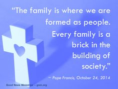 Let´s not forget to pray for our families! Read more at: www.twitter.com/Pontifex