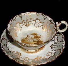 Šálek na čaj * krásně zdobený a malovaný porcelán ♥