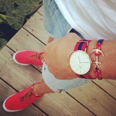Tom Hope anchor bracelet and a beautiful Daniel Wellington watch #tomhope #danielwellington #instafashion #fashion