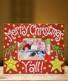 Take a look at the 'Merry Christmas Y'all' Picture Frame on #zulily today!