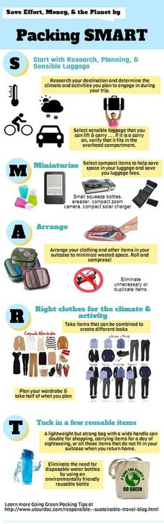 Going Green Travel Tips - Please visit my blog post for greater details regarding the tips on packing for travel and saving the planet.