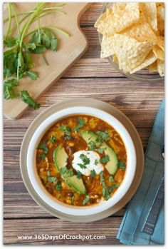 Crockpot Recipe for Chicken Enchilada Soup #crockpot #soup #slowcooker