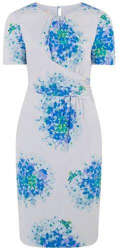 LK Bennett Floral Silk Dress £169. The cut sculpts and skins the waist and hips. #dressesforhourglassfigure