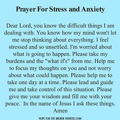 #anxietyprayer