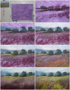 Painting My World: Pastel Demo...Landscape on Homemade Surface