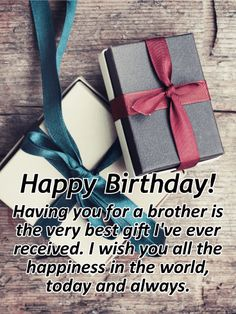 Send Free Wishing you All the Best - Happy Birthday Card for Brother to Loved Ones on Birthday & Greeting Cards by Davia. It's free, and you also can use your own customized birthday calendar and birthday reminders. Happy Birthday Bhai Wishes, Birthday Message For Brother, Birthday Greetings For Brother, Birthday Wishes For Brother, Birthday Blessings, Happy Birthday Pictures, Happy Birthday Fun, Happy Birthday Quotes, Happt Birthday