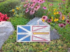 Newfoundland and Labrador Wood Flag Distressed by Halyard on Etsy