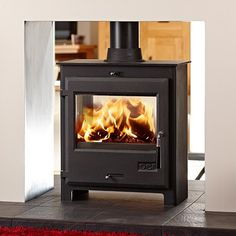 OER 7 Double Sided Multifuel / Wood Burning Stove - Stoves Are Us
