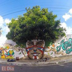 Afro Taino by Gabriel Abreu in San Cristobal, Dominican Republic