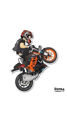 Duke Motorcycle, Duke Bike, Ktm Duke, Wheeling, Creative Profile Picture, Best Painting Ever, Moto Wallpapers, Dirt Bike Quotes, Bike Sketch