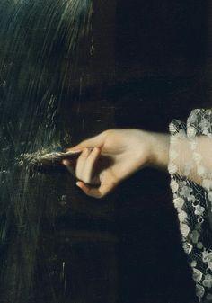 .¨. Mrs. Daniel Sargent (Mary Turner), detail John Singleton Copley (1763)