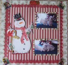 pets with snowman costco gift bag our pets scrapbook pages