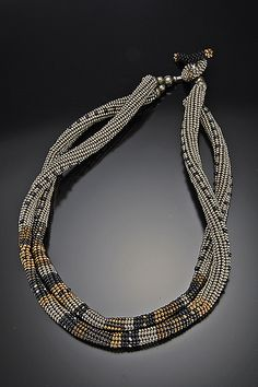 Necklace | Timbuktu by Julie Powell  (Ndebele, but cd interpret via bead crochet...)