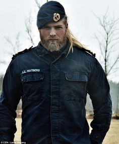 Lasse is a Royal Norwegian naval officer so his large build is necessary for his work