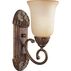 Carmel Collection Tuscany Crackle 1-light Vanity Fixture