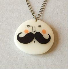 Moustache Necklace  De peapa   http://www.flickr.com/photos/depeapa