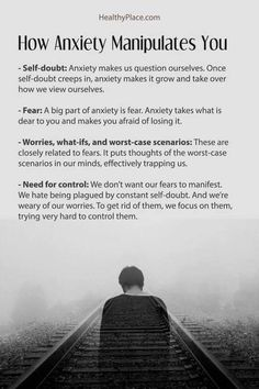 There are common ways that anxiety manipulates you and causes symptoms. Anxiety tries to control your life by manipulating you with these four tactics. Anxiety Facts, Anxiety Tips, Anxiety Help, Stress And Anxiety, Social Anxiety Symptoms, Quotes About Anxiety, Social Anxiety Quotes, Writing Tips, Adhd