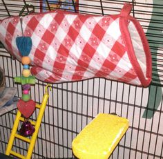Want a hammock for your small pet but don't wanna spend too much? Pin a cheap oven mit to their cage....