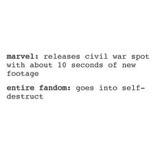 the people at Marvel just want to watch the world burn