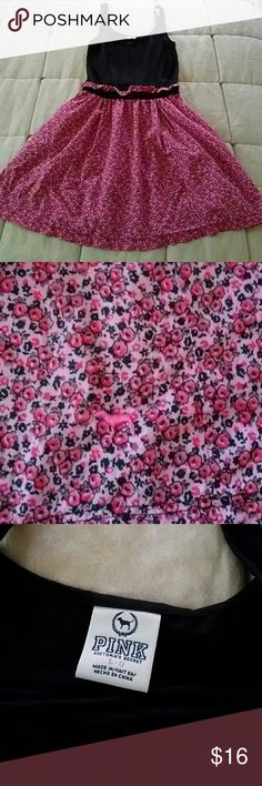 PINK by Victoria's Secret Dress Very cute worn one time. Could fit a medium or large! Has pockets (one has a small hole). Victoria's Secret Dresses Mini