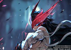 Lol League Of Legends, League Of Legends Characters, League Of Legends Yasuo, Dark Fantasy Art, Fantasy Demon, Desenhos League Of Legends, Character Art, Character Design, Anime Devil