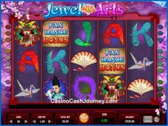 Jewel of the Arts is a 5-reel, 20 payline, IGT non progressive video slot machine. More this way.... http://www.casinocashjourney.com/slots/igt/jewel-of-the-arts.htm