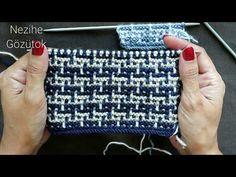 Two-color jigsaw puzzle pattern - Crochê Crochet Doily Rug, Gilet Crochet, Crochet Motifs, Crochet Patterns, Diy Crafts Knitting, Diy Crafts Crochet, Baby Sweater Knitting Pattern, Baby Knitting, Knitting Videos