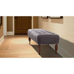 Jennifer Taylor Home Lyon Tufted Entryway Accent Bench - 2420-865