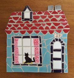 Handmade House Mosaic Perfect for a New Home by WoodfordMosaics