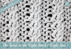 """The Twist to the Right Stitch adds a bit of a """"Twist"""" to your standard 2x2 Rib…"""