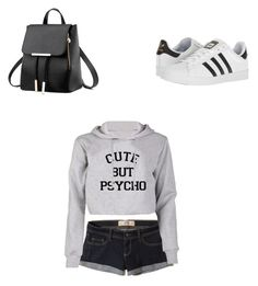 """""""Untitled #25"""" by gabriela-agredo on Polyvore featuring Hollister Co. and adidas"""