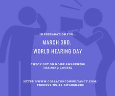 To prepare for World Hearing Day why not check out our online Noise Awareness training course to see how you can manage noise at work Water Treatment, Hearing Aids, Training Courses, Close To My Heart, Read More, About Uk, Workplace, Thats Not My, March