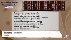 Let Her Go - Passenger Guitar Backing Track with scale, chords and lyrics